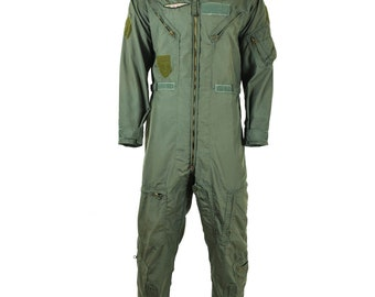 7053e1ce31b2 Genuine US army USAF CWU-27 P Flight Suit Coveralls Sage Green nomex fire  resist usa military surplus coverall