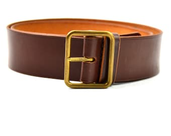 Genuine Swiss army military brown leather belt. Swiss 38 mm leather belt 037da89a8ee