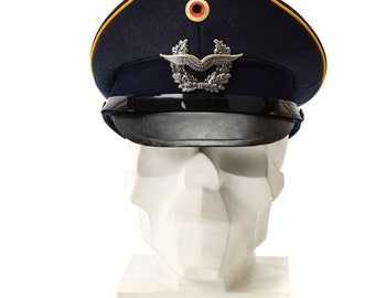e61c4c5033cd3f Genuine German army visor cap. Air forces military peaked hat luftware NEW