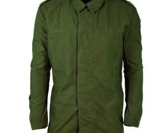 Genuine Swedish army pullover Jumper OD green wool sweater full zip cardigan NEW
