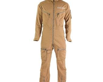 2b95ac9fd06 Original German army aramid fiber flight suit coverall pilot fighter desert khaki  coveralls