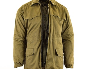 5aa12bf7684 Genuine Italian army Parka jacket OD green winter w quilted liner Italy  military