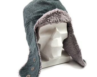 a609aad06eb Original Swiss army winter cap Swiss military grey wool cold weather hat