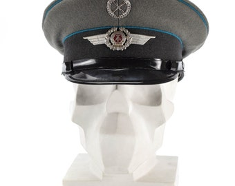 0db963bbbdc Original East German NVA army visor cap. Air forces military peaked hat NEW