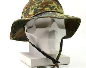 c40e1236097 Original German Army boonie hat Military Flecktarn Camouflage Germany  summer cap