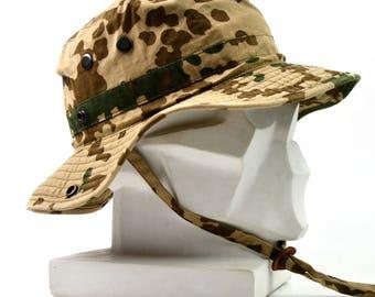 0108bb16ef3 Original German Army boonie hat Military Tropical Camouflage Germany summer  cap