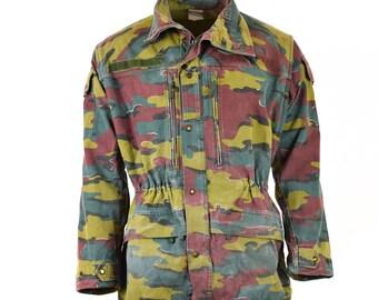 fdf0acdaeb3 Original Belgian army military combat M90 field jacket parka JIGSAW CAMO  surplus