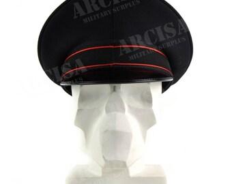 Genuine Italian Army peaked cap Military Police visor forage cap Black NEW 1e475c7079a