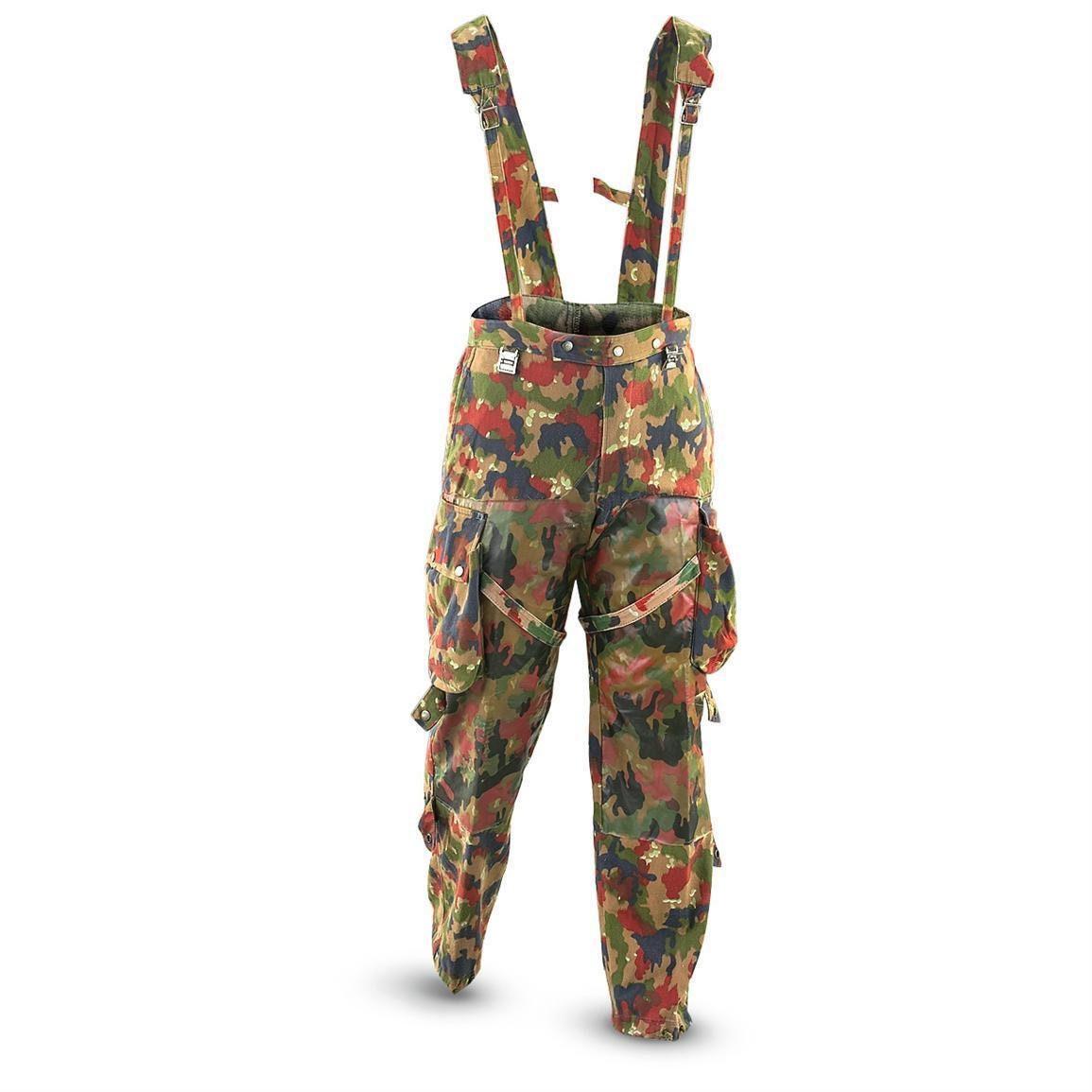 Genuine Swiss Army Field Pantalon M70 Suisse Combat Camo Sniper Pantalon Neuf