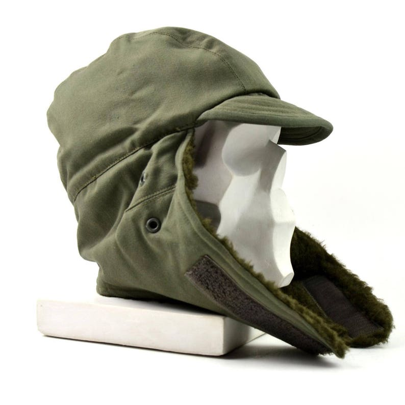 Original French Army Winter Hat. Cold weather army field cap  0fa071e8896