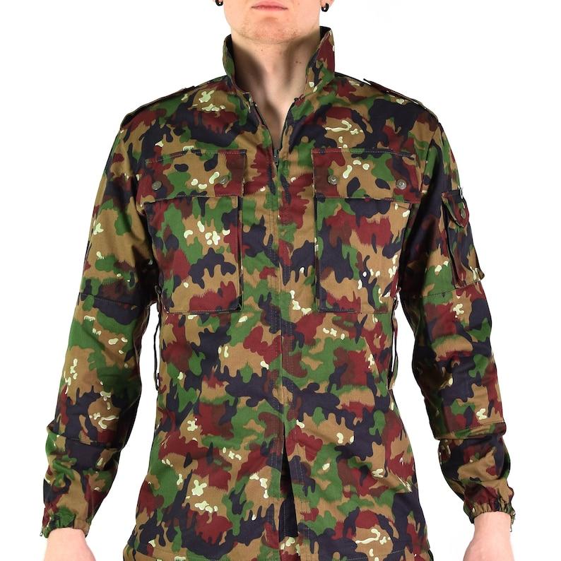 5bf5cd9d8c785 Original Swiss army jacket M83 combat field Alpenflage Camo | Etsy