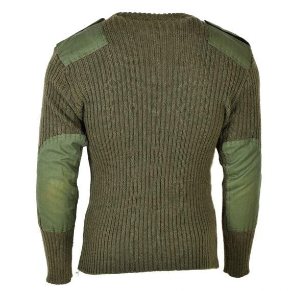 Original British army pullover Commando Jumper Blue sweater Wool