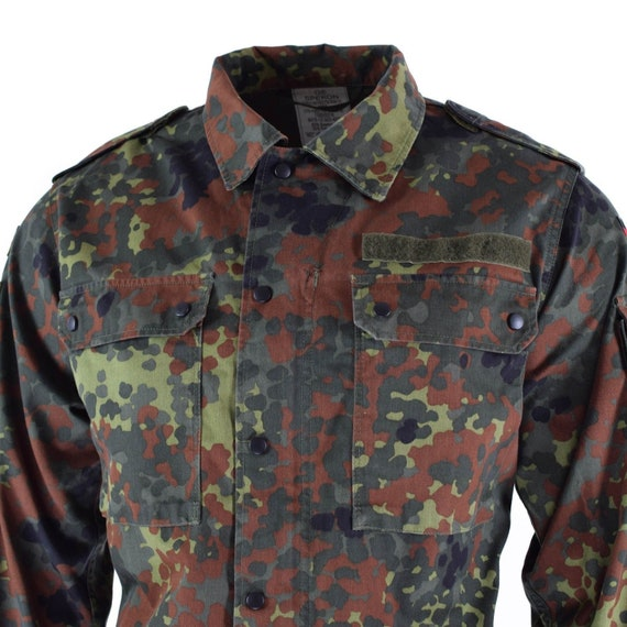 BW COTTON BUNDESWEHR Flecktarn CAMO German Army Outdoor TEE t-shirt shirt