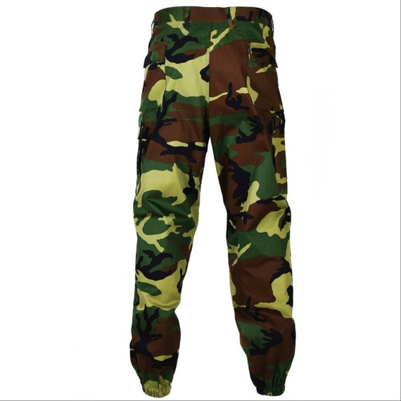 Camo Carga Ejército Militar Superávit Alemán Flecktarn Pantalones De Combate