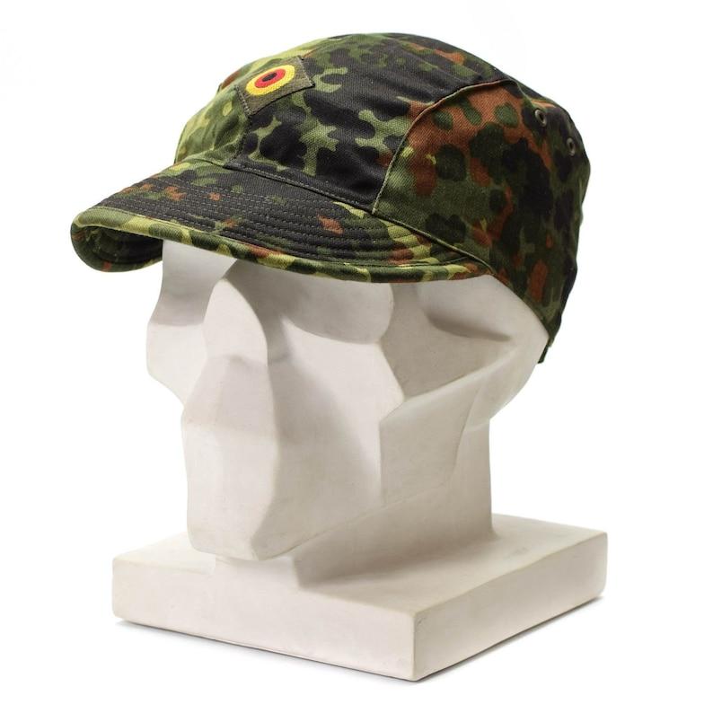 b336ee95d5491 genuine original german army air force cap flecktarn camo peak etsy. mfh us  bdu ripstop