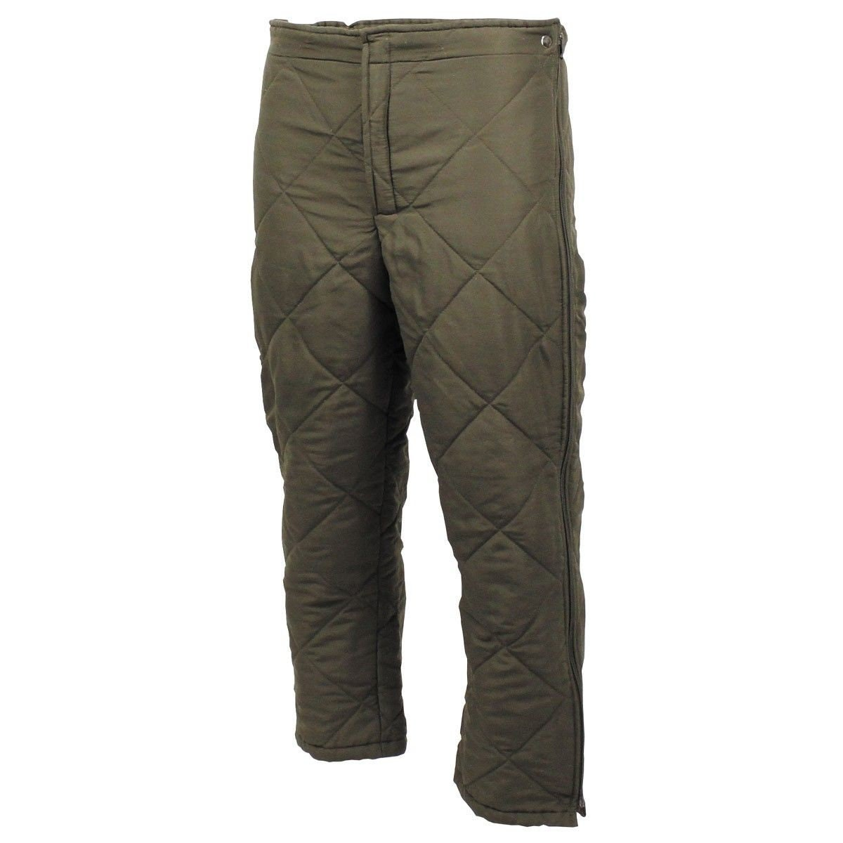 Original German army quilted pants liner trousers inner warmer thermal winter OD