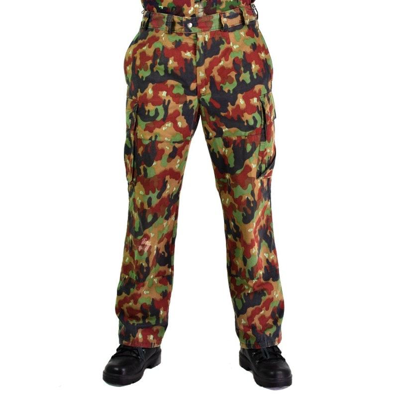 5346189d27591 Original Swiss army pants M83 combat Alpenflage Camo field   Etsy