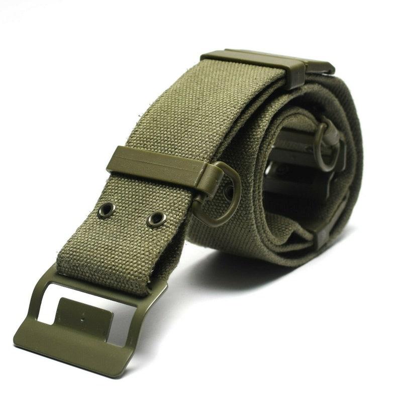 Original French army webbing belt Famas Olive OD web belt France Military  NEW