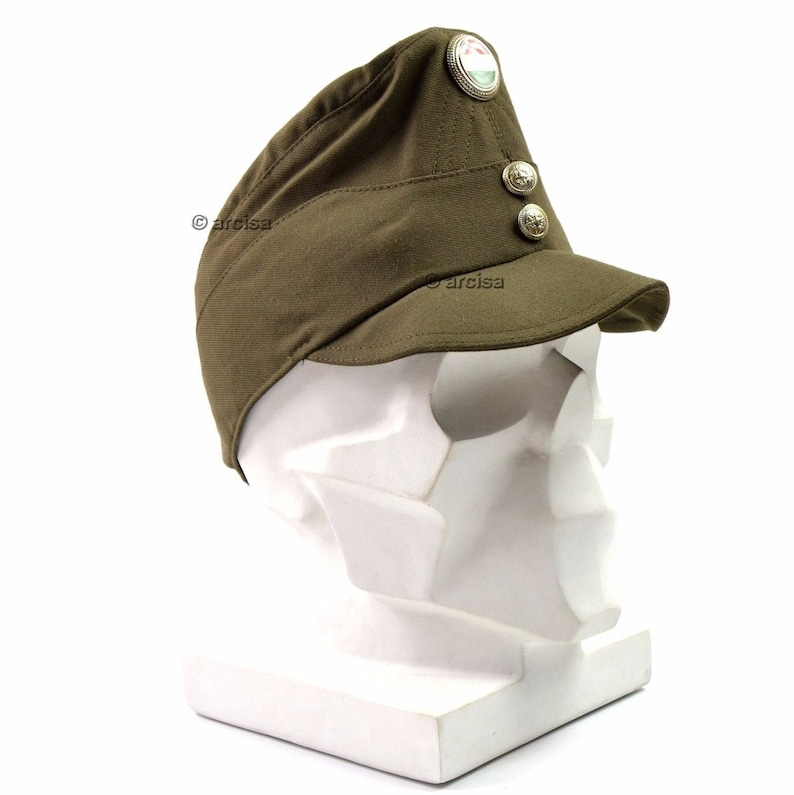 Original Hungary army cap Hungarian military hat with badge Olive OD