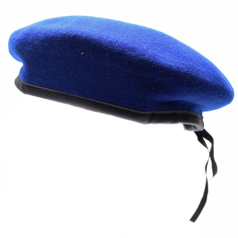 Uniform wool beret Army beret Military cap Military hat New condition Army Blue-green or Khaki colors Wool Berets