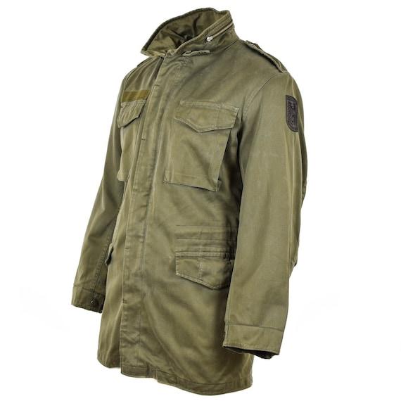 Original Austrian BH army combat M65 jacket OD military olive drab Parka Military surplus
