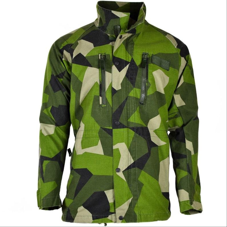 551d09a2 Original Swedish army M90 parka jacket splinter camo field | Etsy