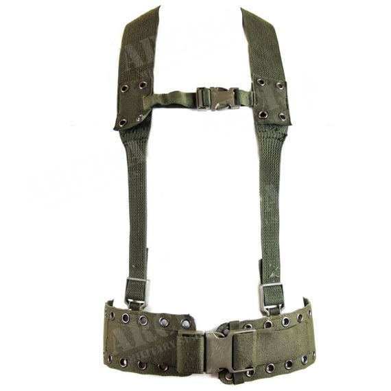 Original Armée Allemande Véritable Noir Ceinture En Cuir Militaire BW question Pantalon