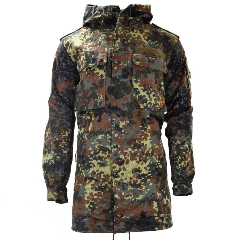 c32d76dde47ef Original German army field jacket parka military issue hooded | Etsy