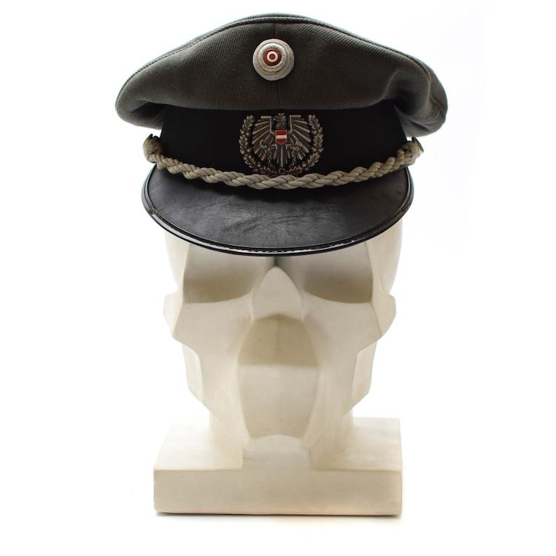 813d1f4c0bf Genuine Austrian army visor cap peaked hat w badge cockade