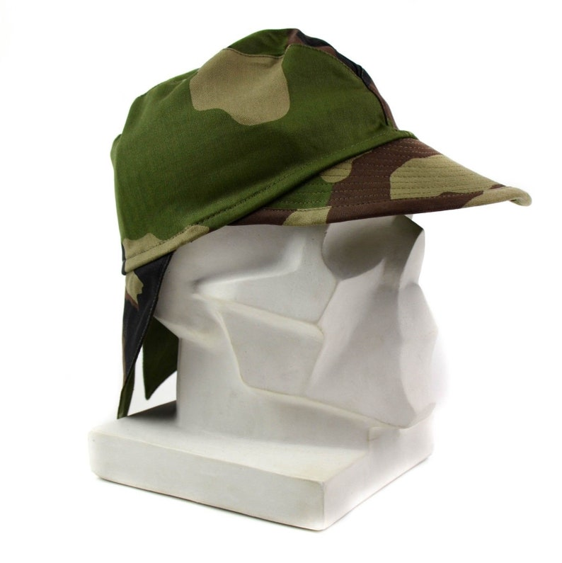 0cd6eca3470 Genuine French France army combat cap Swallowtail cap CCE camo