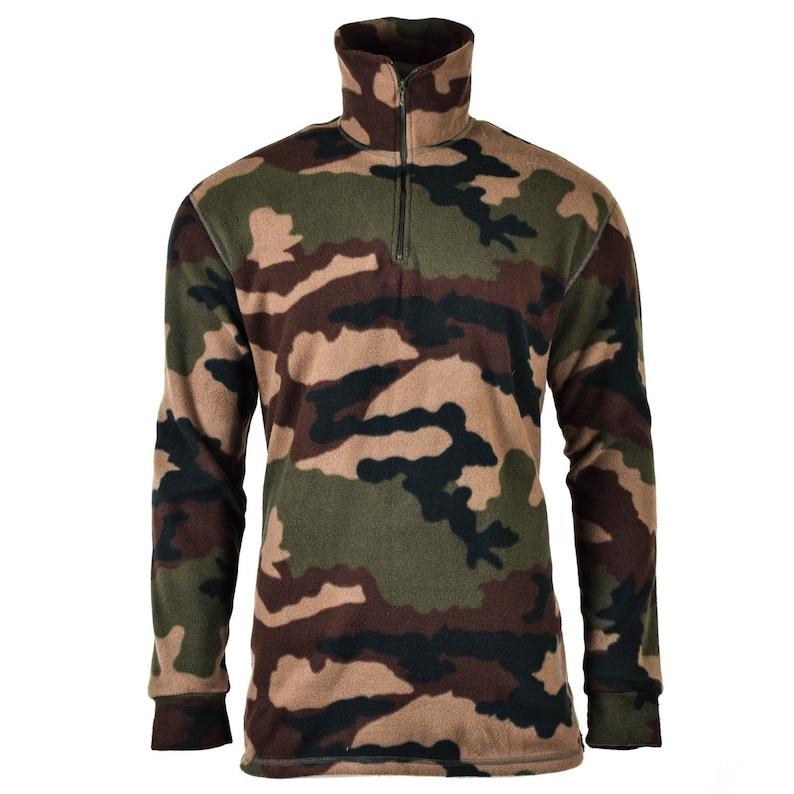 2d7dbea6143aa Original French army woodland camo CCE shirt fleece NEW | Etsy