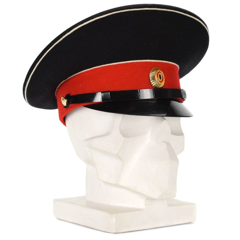 Original Russian soviet army cap visor forage peaked cadet hat red military  new