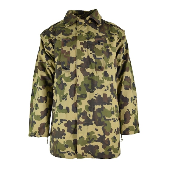 Original Romanian army parka fleck camouflage heav