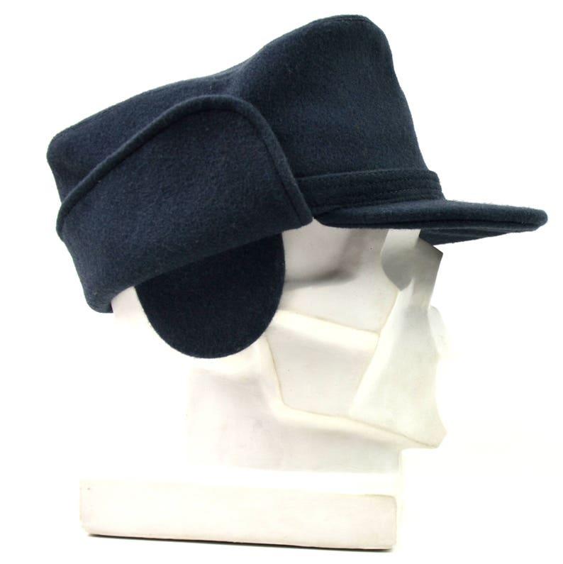 716fa59a96942b Original Swedish army wool winter hat. Blue Sweden Winter cap   Etsy