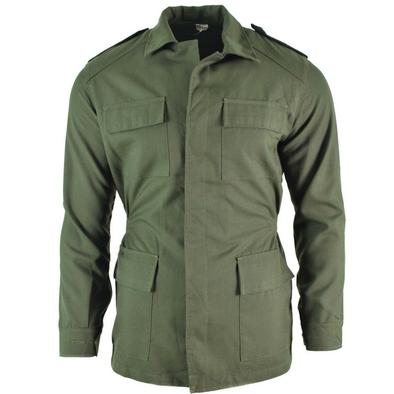 e0bbd330d0e21 Original Portuguese army Olive OD jacket fatigue combat | Etsy