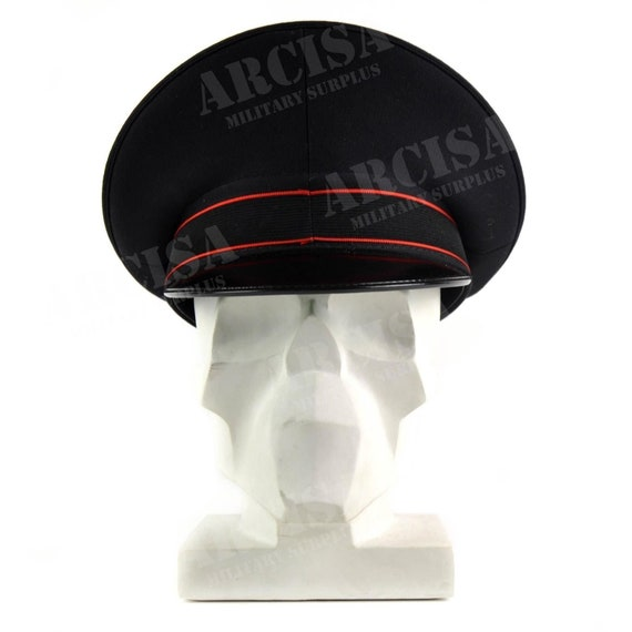 0f779654ed7 Genuine Italian Army peaked cap Military Police visor forage