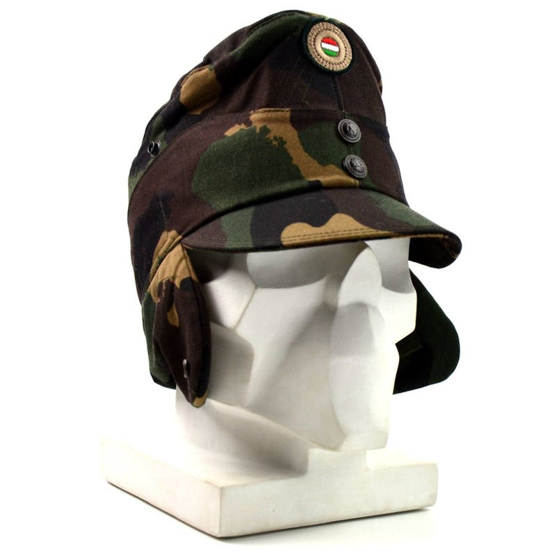 29f8f84585c Genuine Hungarian camo army winter cap military field hat with