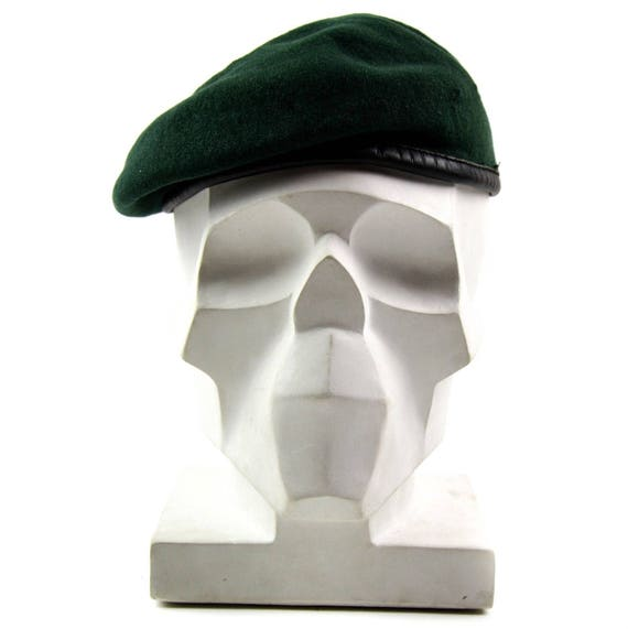 Genuine Austrian army green beret hat. Austria Military  7b9be17e54f
