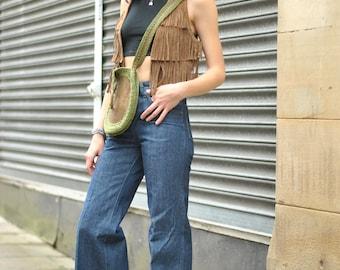 DEADSTOCK 1970s Wrangler BLUE BELL flared jeans 26 x 34 14oz heavy denim