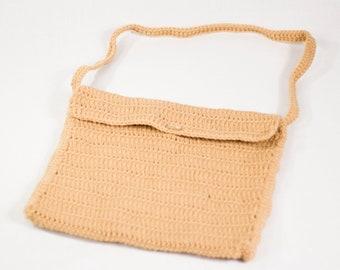 Crochet Laptop Carrier, Beige