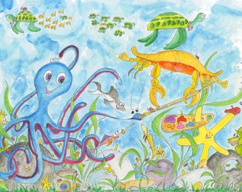 Making Friends  A under the sea painting that shows how friends are really made! You simply paint them!