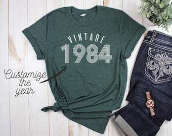 2c67853ab ON SALE Vintage Birthday Shirt, 40th Birthday, 30th Birthday, 25st Birthday,  21st Birthday, Womens Tee, Birthday T-Shirt, Free Shipping