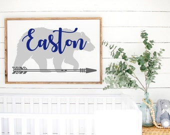 Kids Name Boy/'s Room 5x10 Sign Personalized Kids Door Sign Farm Truck Sign