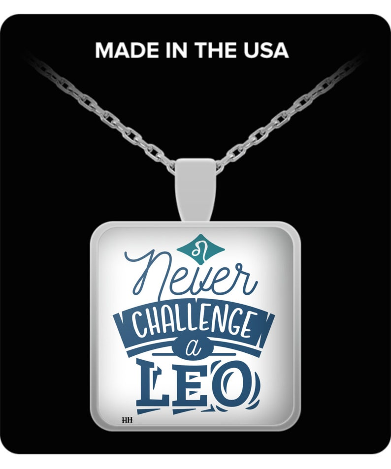 Never challenge a leo necklace image 0