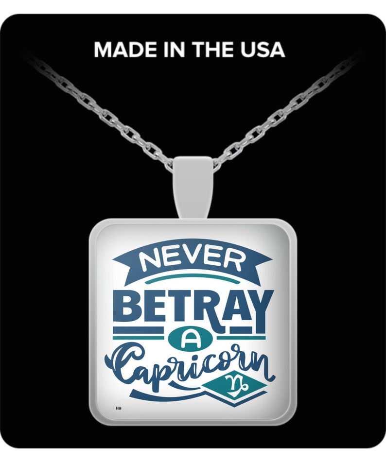 Never betray a capricorn necklace image 0