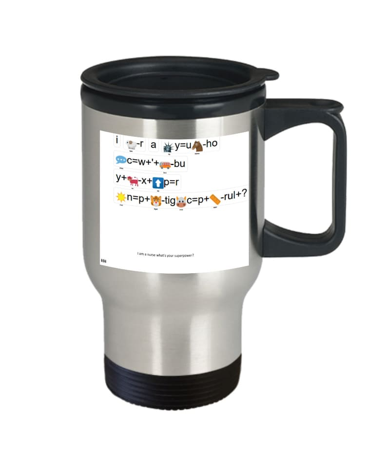 Nurse superpower travel mug image 0