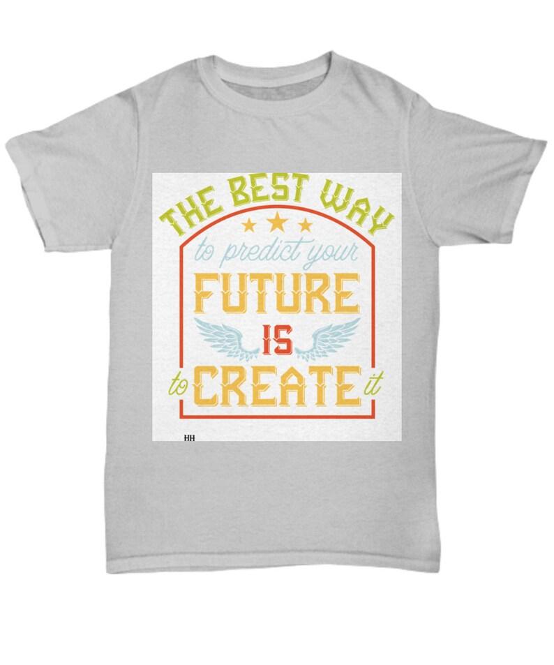 Predict your future grey t image 0