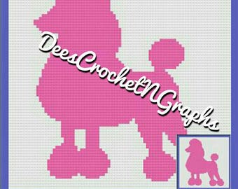 French Poodle C2C CrochetPicture Graphghan Ghart