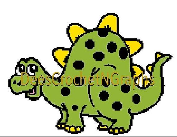 Dino häkeln Diagramms 150 x 117