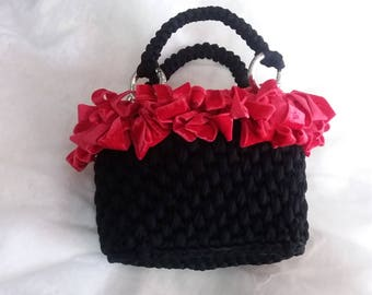 Black and Red Hand bag